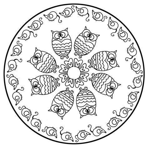 cute mandala coloring pages free mandalas page 171 mandala to color animals free owls