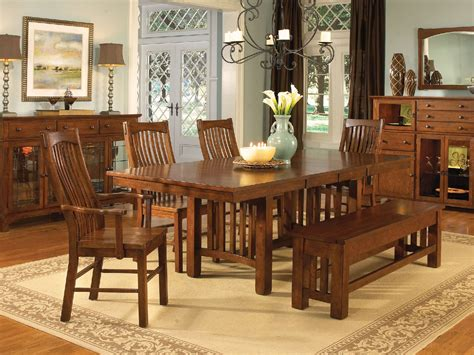mission dining room set mission dining table oak furniture modrox mod on mission