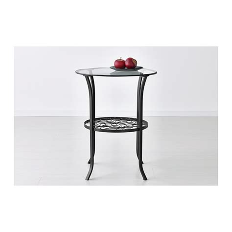 Glass Side Table Ikea Klingsbo Side Table Black Clear Glass 49x60 Cm Ikea