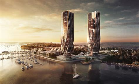 zaha hadid architects gold coast twin tower proposal