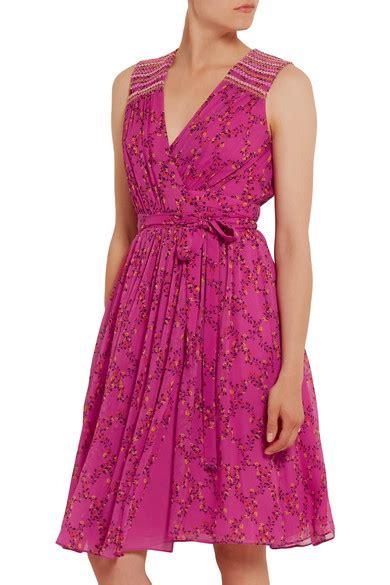 May Dress Bali diane furstenberg bali sleeveless shalamar trellis silk wrap dress pink