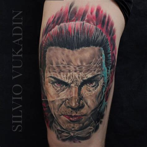 living color tattoo dracula by silvio vukadin tattoonow