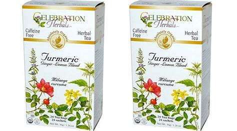 Best Drugstore Detox Tea by Celebration Herbals Organic Turmeric Lemon Blend Review