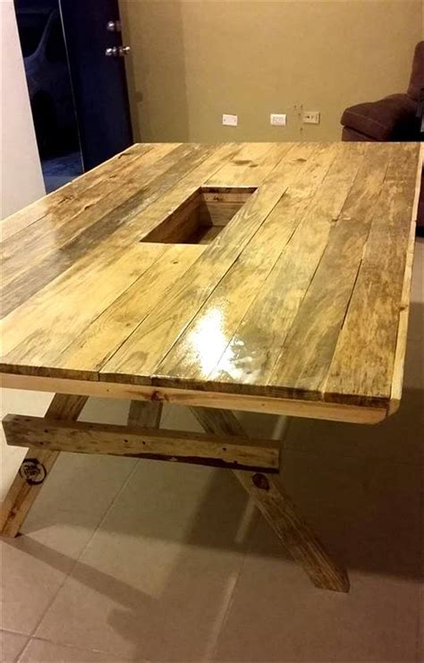 dining table from pallets diy xl size pallet dining table