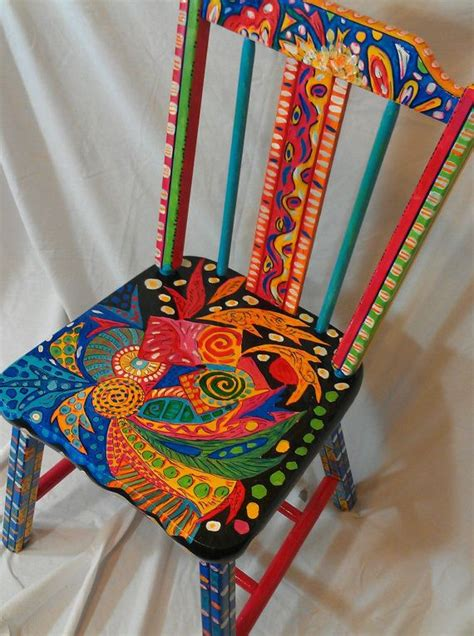 painted armchair hand painted abstract ooak functional art chair household repair and cleaning tips