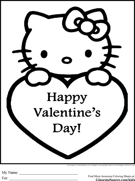 kitten valentine coloring page coloring pages hello kitty valentines therapy