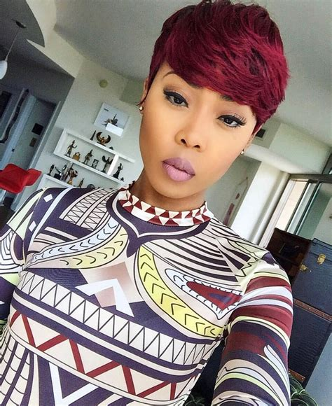 pixie haircutsin atl for black women this color is everything styled it pinterest