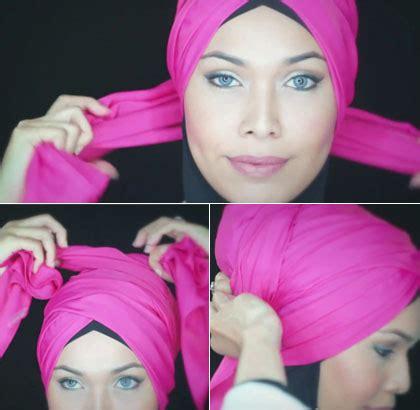 Tutorial Turban Renang | tutorial hijab turban tanpa jarum yang cocok dipakai untuk