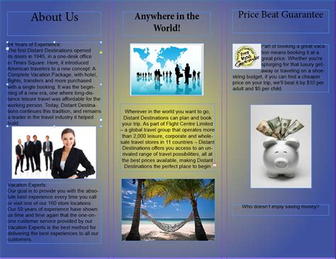 Travel Agency Brochure Jdaniels274 S Blog Travel Brochure Maker