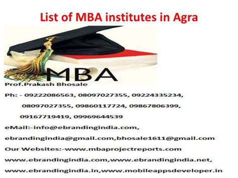 Of Ta Mba by List Of Mba Institutes In Agra