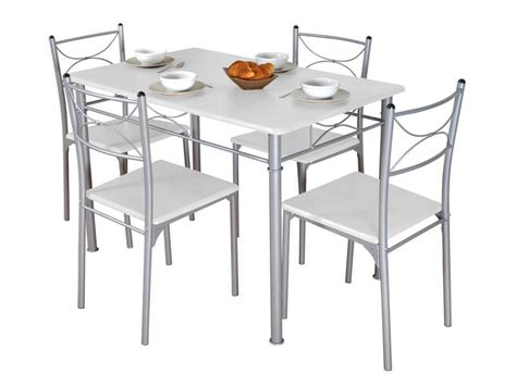 table de cuisine grise ensemble table rectangulaire 4 chaises tuti coloris