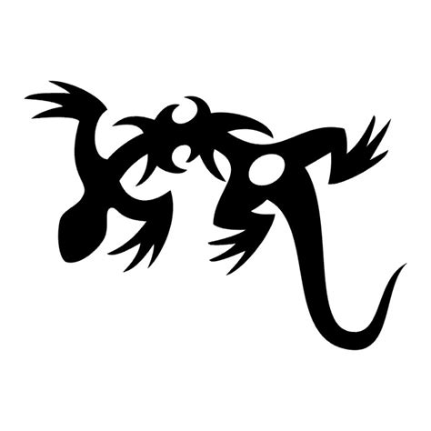 tribal lizard tattoo lizard iii tatto black white tribal