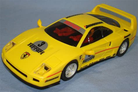 ferrari yellow car scalextric 1 32 scale slot car racing yellow ferrari f40