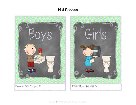 boys bathroom pass the apple tree room july 2013