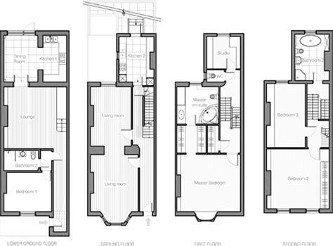 Townhouse Plan by Townhouse Plans House Style Pictures