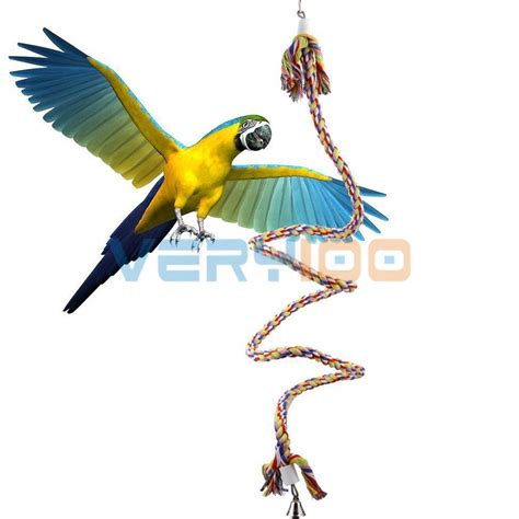 bird swings rope boing coil swing bird toy parrot cage toy conures