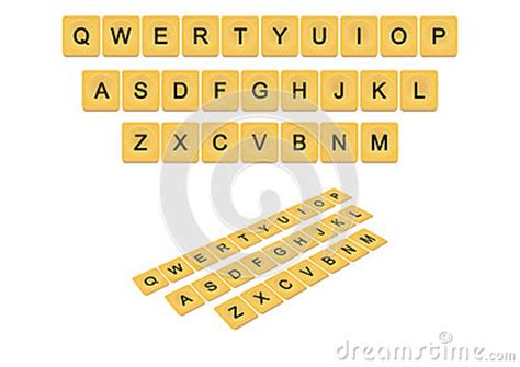 Qwerty Scrabble Keyboard Concept Stock Illustration