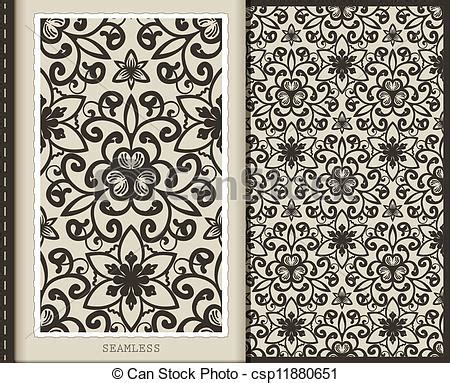 Monochrome Graphic 18 clipart vector of seamless pattern monochrome 18