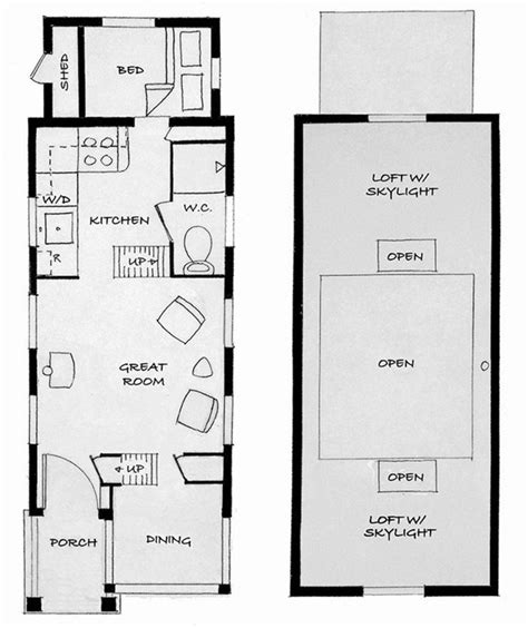 floor plans for small houses tiny house floor plans no loft