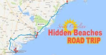 carolina beaches map the beaches road trip that will show you south