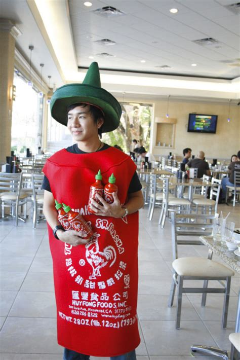 sriracha bottle cap 15 quot quot costumes that bastardize foods we