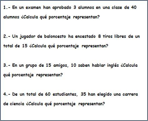 preguntas faciles sobre matematicas el porcentaje ejercicios matematicas simples
