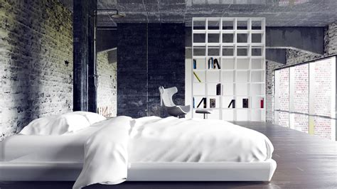 bedroom loft design two beautiful urban lofts visualized