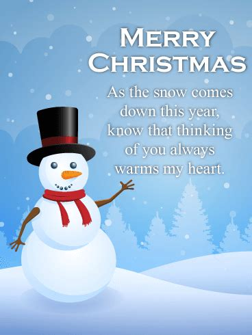 thinking   warms  heart christmas card birthday greeting cards  davia