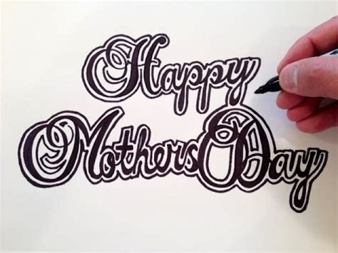 How To Draw Mothers Day