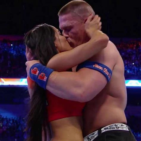 nikki bella john cena guess no better place to do it on the grandest of stages