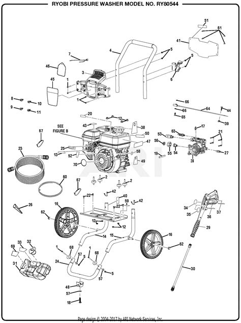 homelite ry pressure washer parts diagram  general assembly part