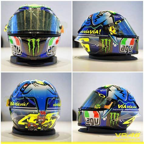 design helmet rossi misano 2015 racing helmets garage agv pistagp v rossi misano 2015 by
