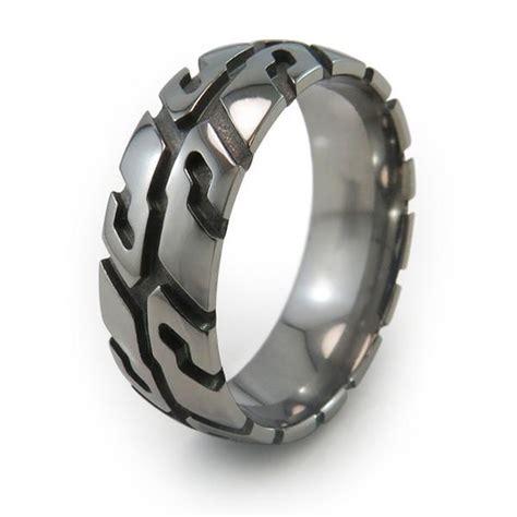 how to make titanium jewelry tire tread titanium rings
