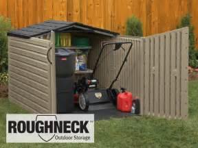 Outdoor Shed For Lawn Mower Roughneck Slide Lid Shed Megan