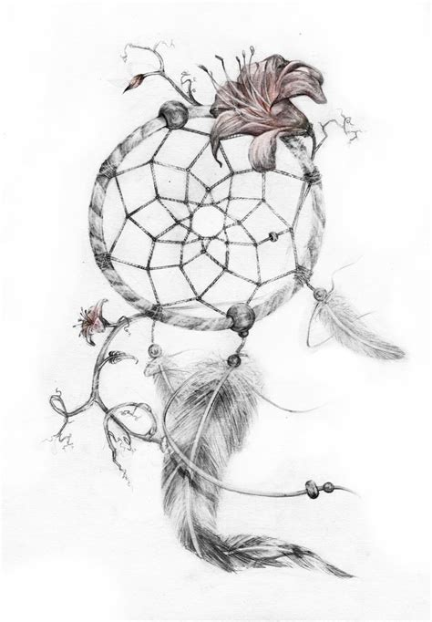 dreamcatcher tattoo with lily preview dreamcatcher tattoo by genevieveviel on deviantart