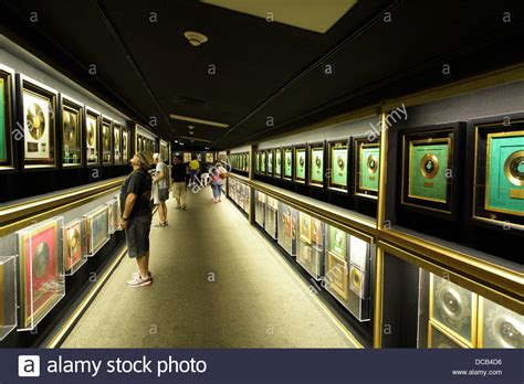Records On Homes Gold Records On Display In The Trophy Room At Graceland The Home Of Stock Photo