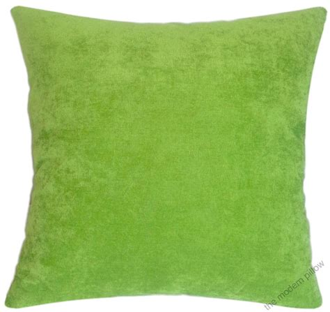 Lime Green Throw Pillows by Lime Green Velvet Solid Decorative Throw Pillow Cover