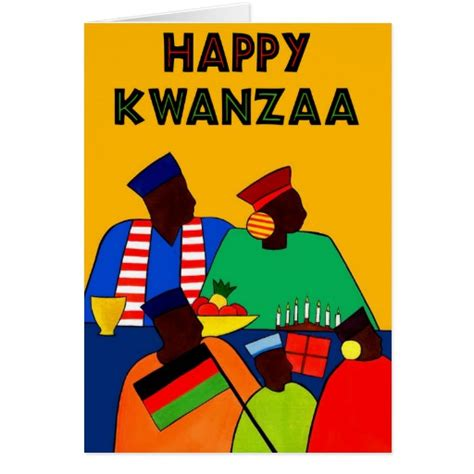 kwanzaa greeting cards printable happy kwanzaa greeting card zazzle