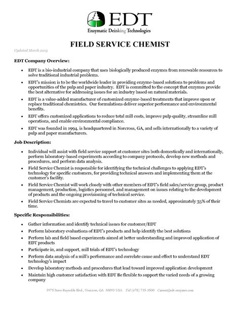 the erlenmeyer flask job opportunity edt the