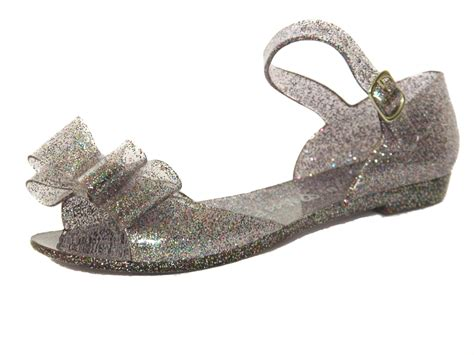 Jelly Flats Shoes 2 pink glitter summer jelly sandals uk shoes size 12 13 1 2 3 4 ebay
