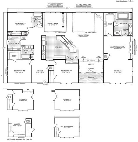 home floor plans oregon triple wide mobile home floor plans manufactured