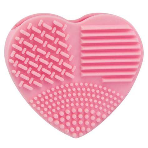 Brush Egg In Pink brush egg pembersih kuas make up model hati pink