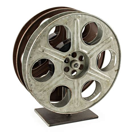 Repurposed Home Decor by Vintage Film Reel Wine Rack The Green Head