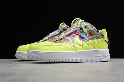 nike air force   se white fluorescent green qd