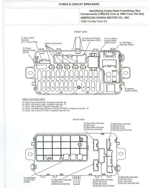 2000 honda civic fuse box fuse box and wiring diagram