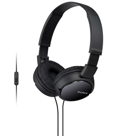 Headseat Sony Bass Mdr 450 With Mic buy sony mdr zx110ap zx series bass smartphone headset with mic black with mic at