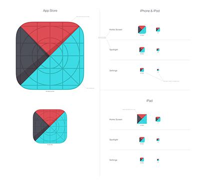 app layout grid grids and icons for creating ios 7 templates designmodo