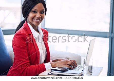 at least she can still work while shes laid up black business woman stock images royalty free images