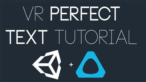 unity tutorial text unity vr perfect text in unity tutorial youtube