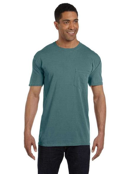 comfort colors blue spruce comfort colors 6030cc garment dyed pocket t shirt